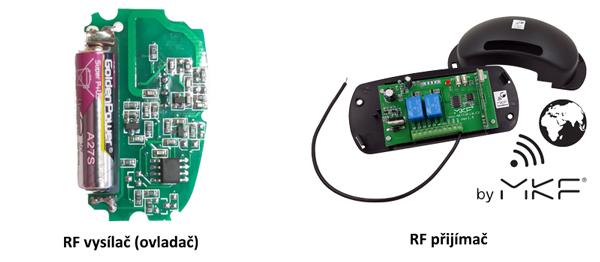 RF ovladač a přijímač MKF