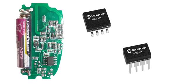 Elektronika RF ovladače a čip Microchips